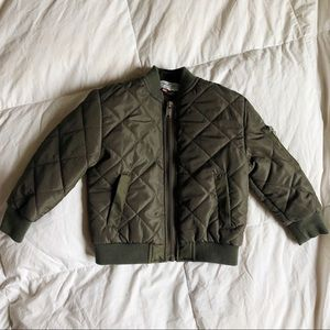 2T Olive Green Quilted Jacket